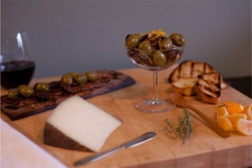 Maple Planked Olives