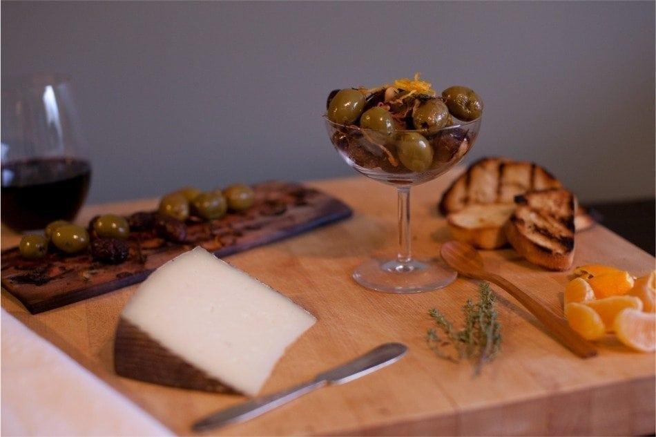 Maple Planked Olives