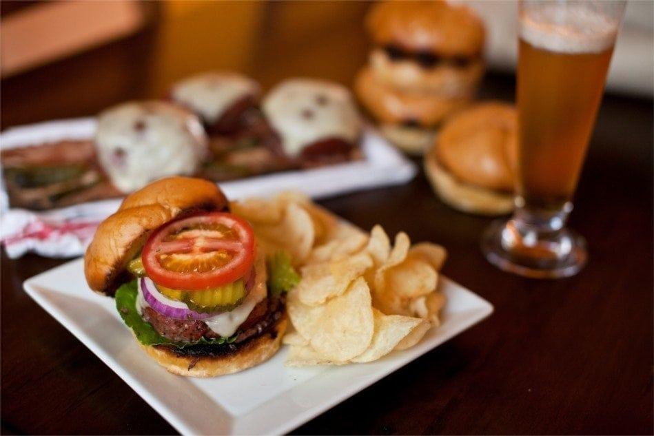 Red Oak Planked Bison Burgers Recipe