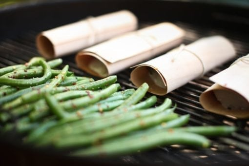 Cedar Grilling Wraps on the Grill