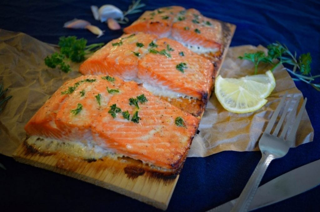 Cedar Planked Salmon in the Oven