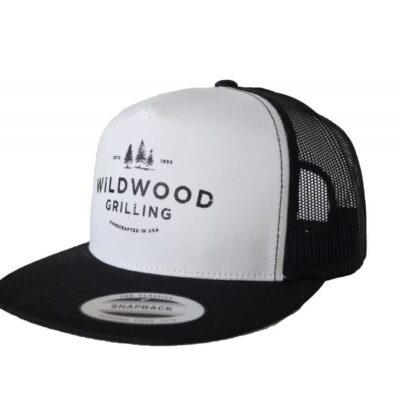 Flat Bill Trucker Hat with Wildwood Grilling Logo