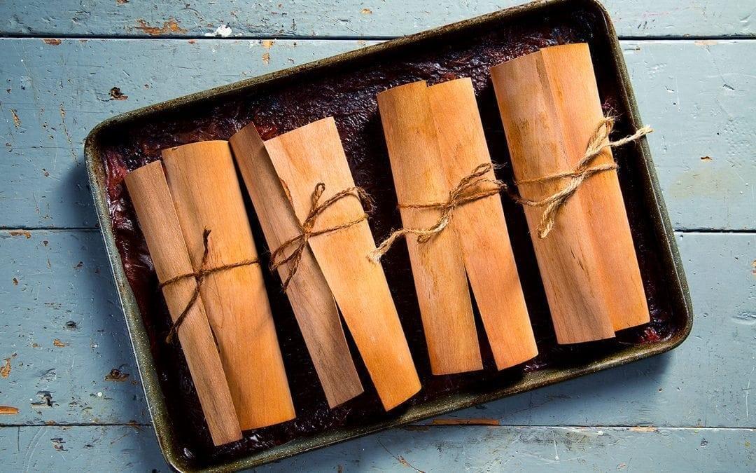 Cedar Grilling Wraps on Baking Sheet