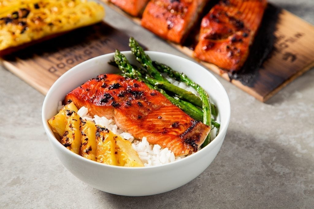 Grilled Pineapple Teriyaki Salmon