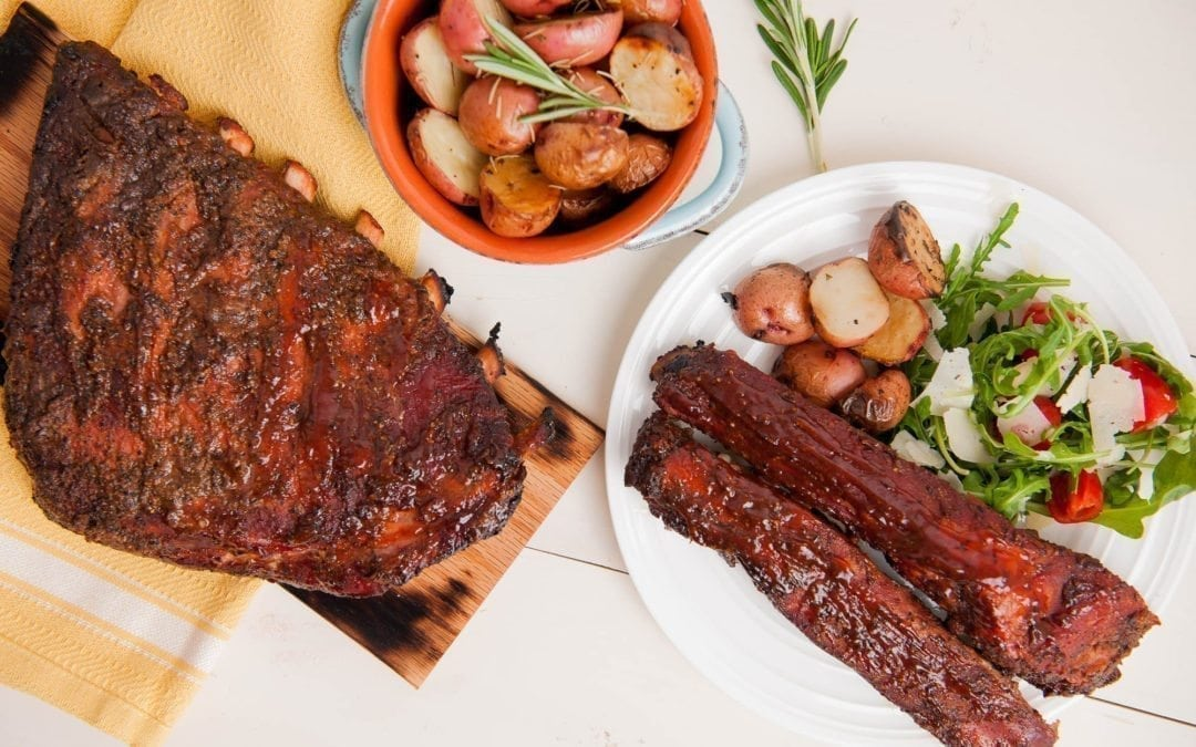 Hickory Planked Baby Back Ribs