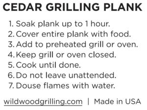 Cedar Plank Instructions