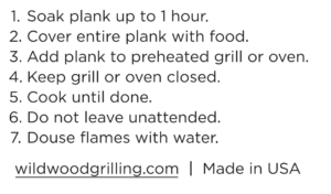 Grilling Planks Instructions