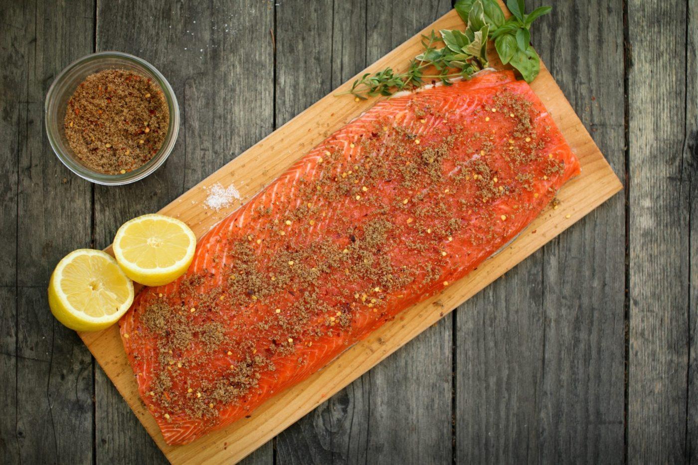 Cedar Plank Salmon Spice Rubs