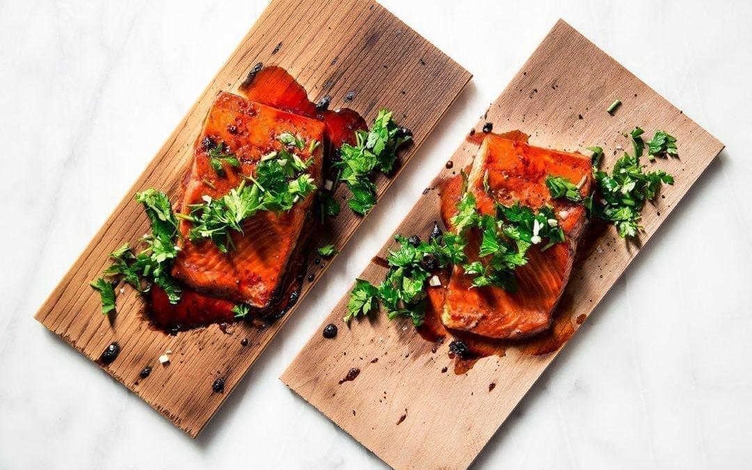 Hibiscus Glazed Cedar Planked Salmon Recipe