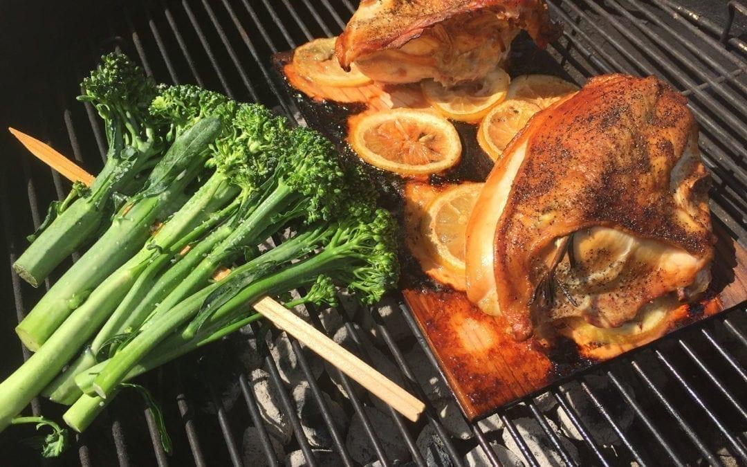 Cedar Planked Lemon Rosemary Chicken