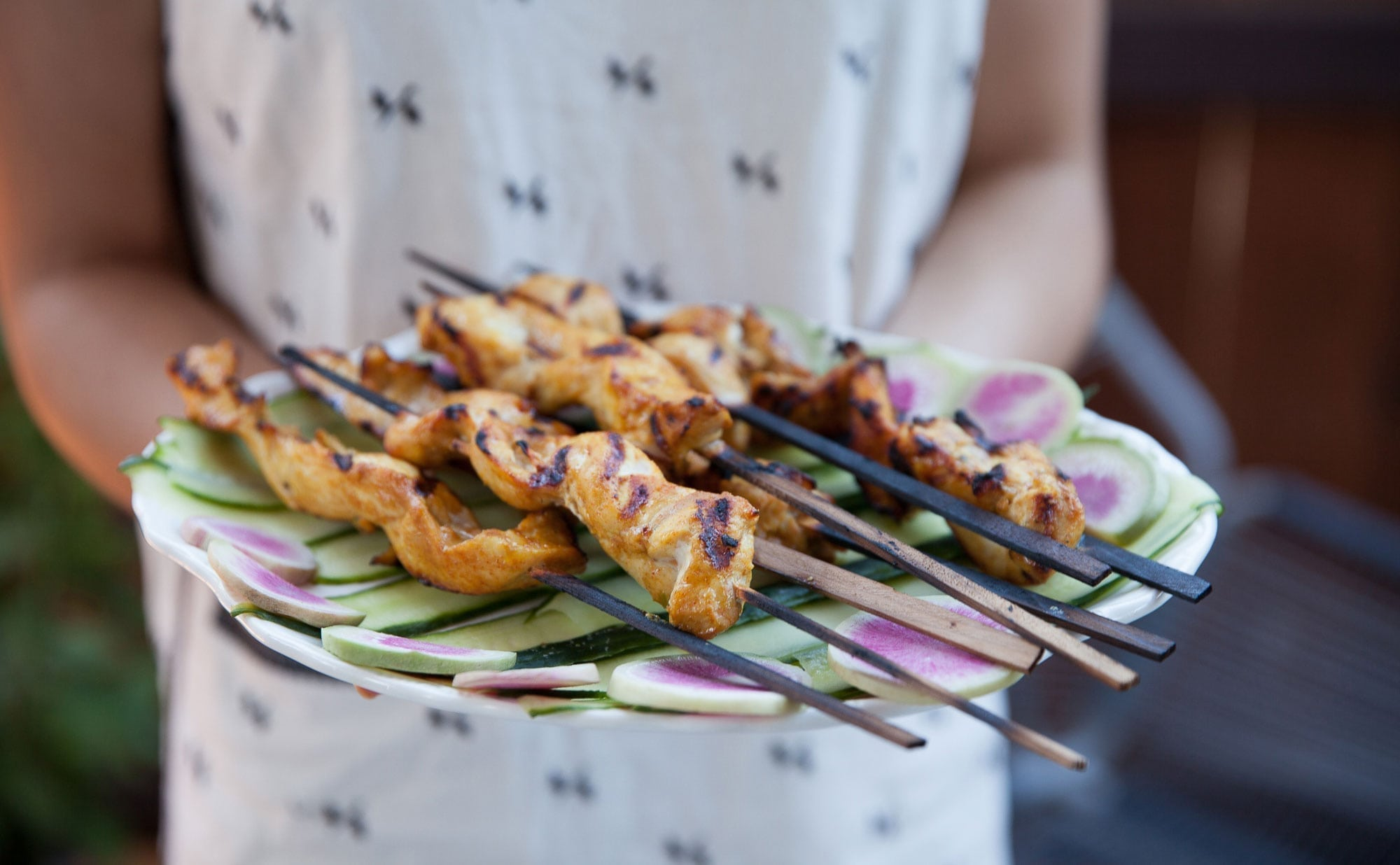 Thai Chicken Skewers with Peanut Sauce