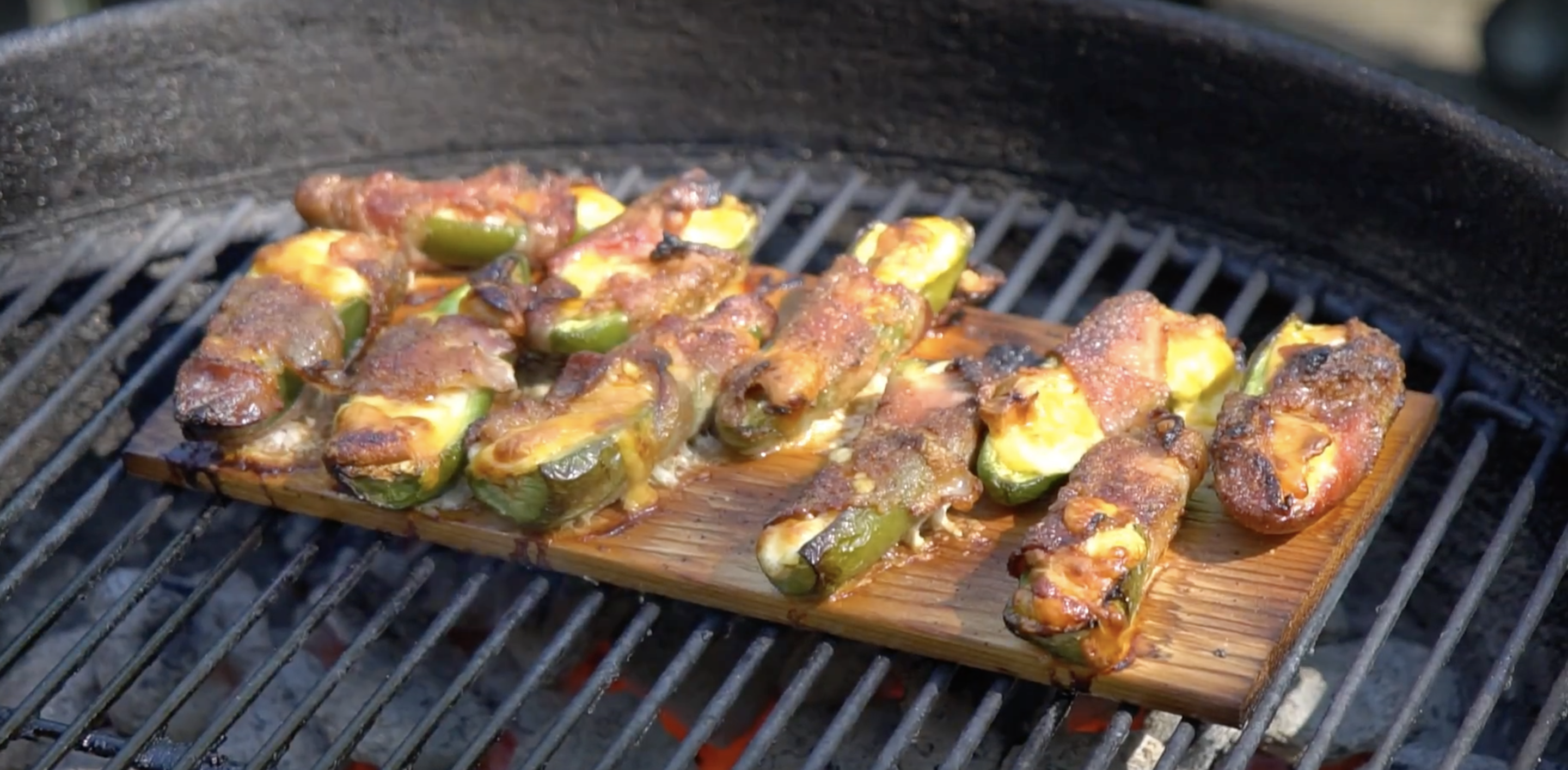 Maple Planked Jalapeno Poppers