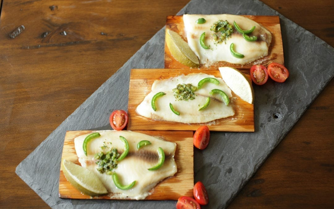 Cedar Planked Tilapia with Chili and Lime