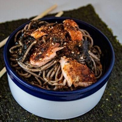 togarashi salmon nori pesto