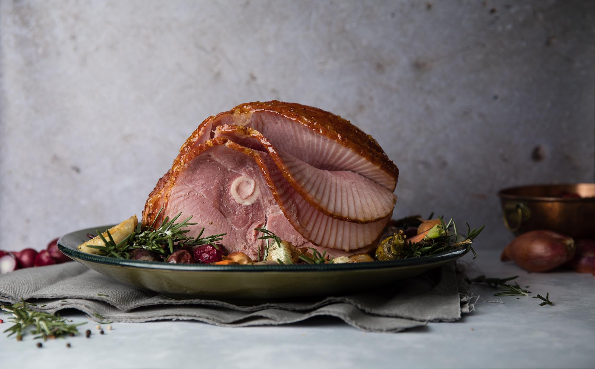 smoked spiral ham
