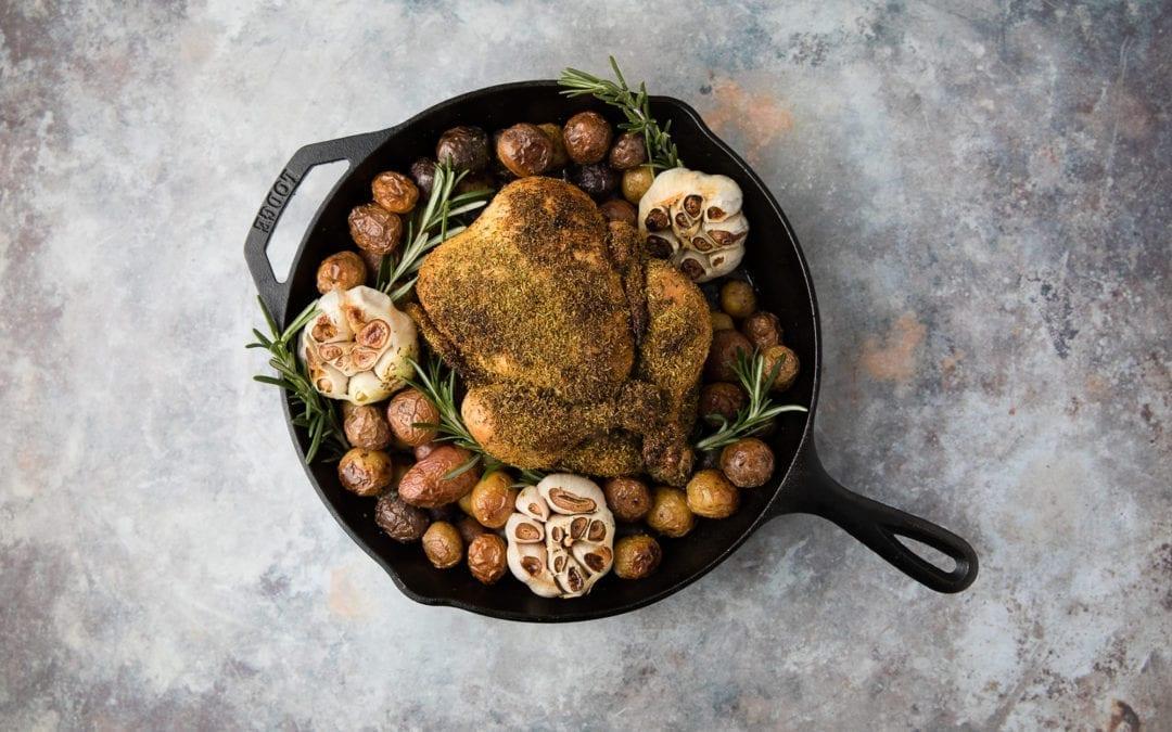 Hippie Gold Rub Cast-Iron Roast Chicken