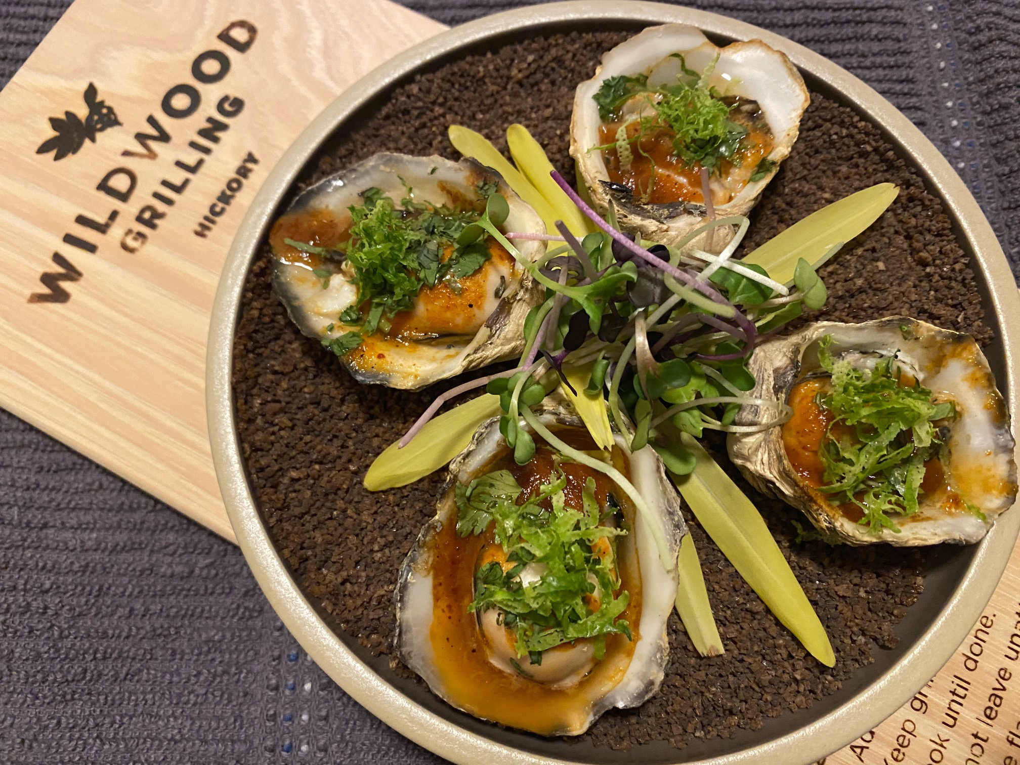 Hickory Planked Mexican Oysters
