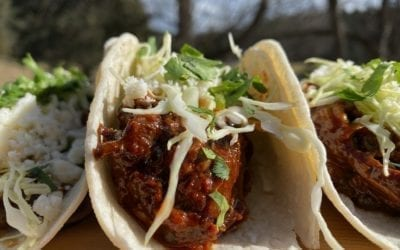 Alder Planked Mushroom Carnitas Tacos