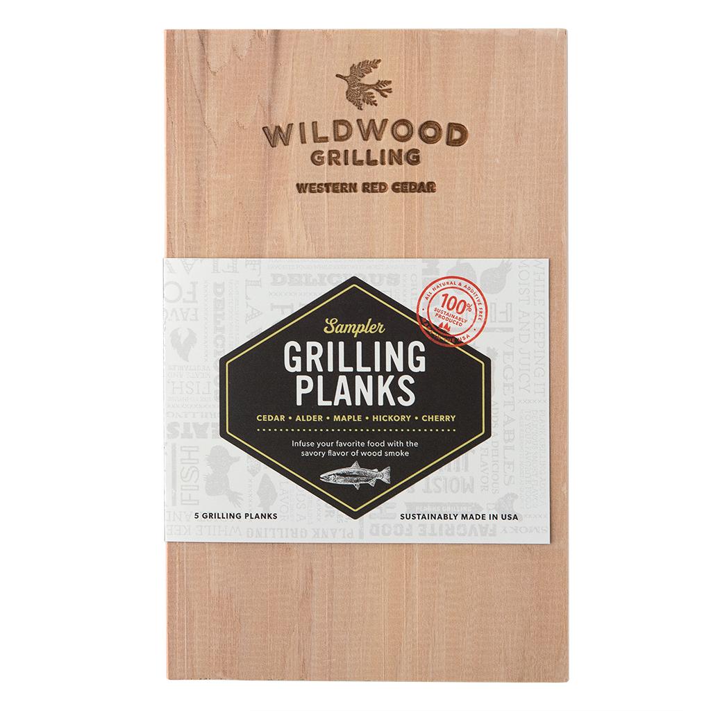 Grilling Planks Sampler Pack: 5 Flavors (Small)