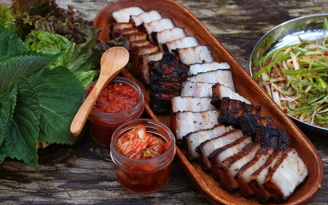 Spicy Smoked Pork Belly