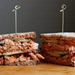 Cedar Wrapped Chicken Club Sandwich with Kimchi Mayo